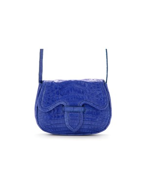 Blue Mini Carriel Crossbody