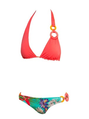 Coral and Flower Bikini