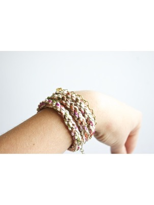 Handmade Braid Wrap White Bracelet
