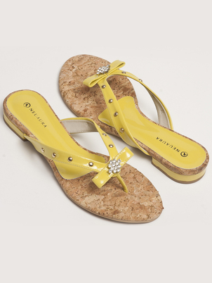 Lemon Thong Sandals
