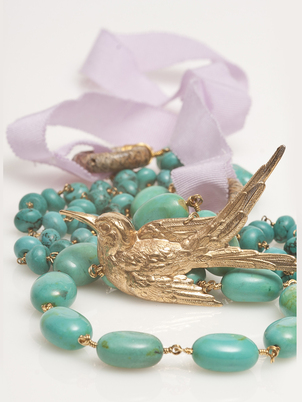 Beaded Bird Necklace