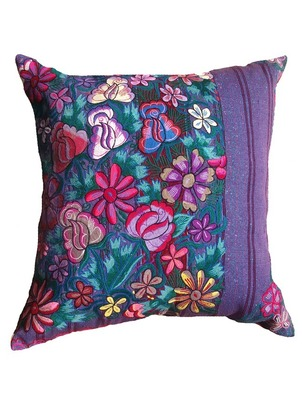 Flower Blossom Purple Chiapas Pillow