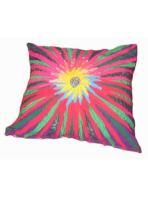 Pink Flower Pillow