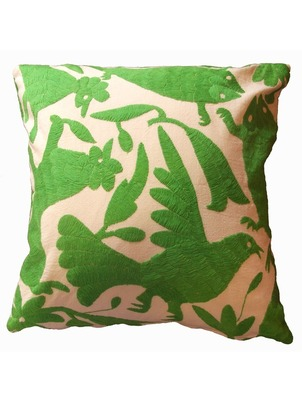 Green Otomi Pillow
