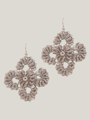 Handmade Silver Flower Earrings