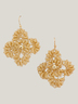 Handmade Gold Flower Earrings