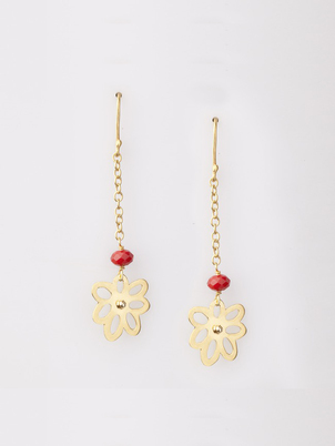 Flowers Chain Earrings