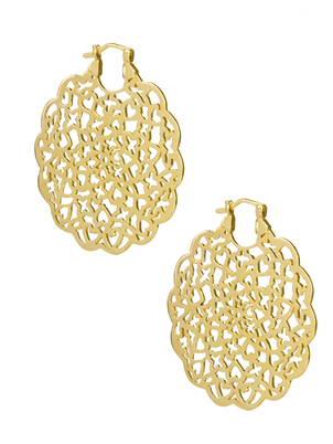 Gold Rosette Earrings