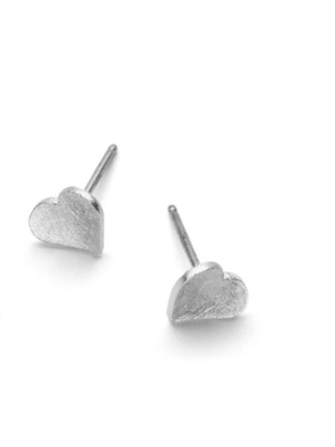 Silver Petit Heart Earrings