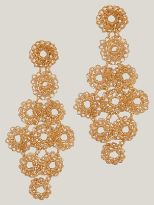 Handmade Gold Geometry Earrings