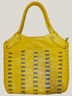 Yellow Braided Leather Bag