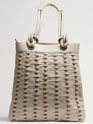 White Leather Tote