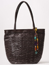 Black Braided Leather Bag