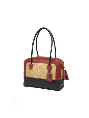 Handmade Red Black Milta Handbag