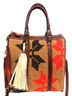 Handmade Natural Tones and Leather Wayuu Handbag