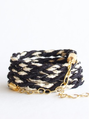 Handmade Braid Wrap Black Bracelet