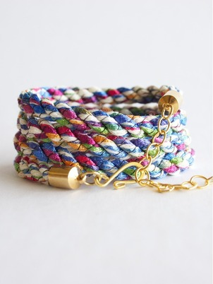 Handmade Braid Wrap Multicolor Bracelet