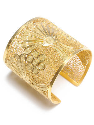 Brazalete de oro Peacock