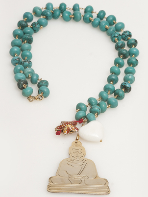 Beaded Buddha Necklace