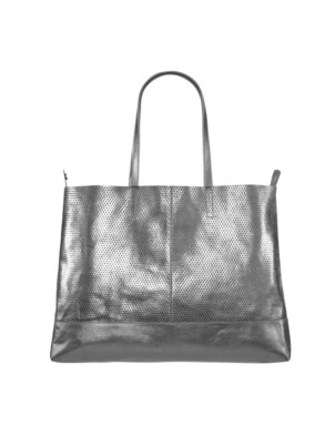 Leather Bag Silver