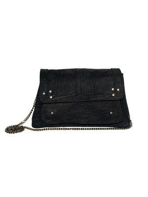 Black Blue Clutch