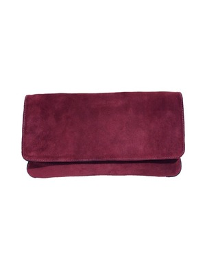 Burgundy Eugenia Clutch