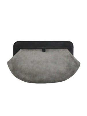 Gray Margo Clutch