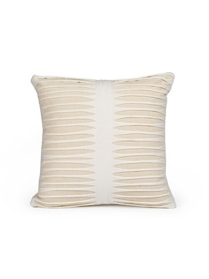 White Cotton Strips Pillow