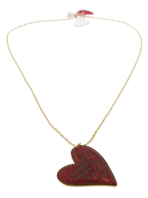 Big Red Heart Necklace