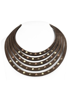 Necklace - Leather Rivets