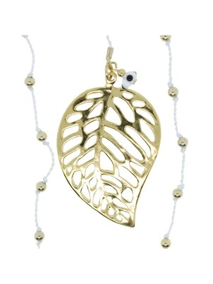 Leaf White Necklace