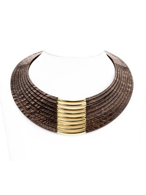 Necklace - Crocodile Leather