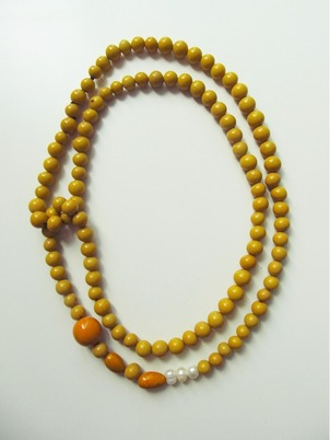 Handmade Yellow Getaway Necklace
