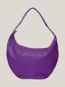 Purple Leather Half Moon Bag