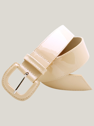 Nude Leather Belt
