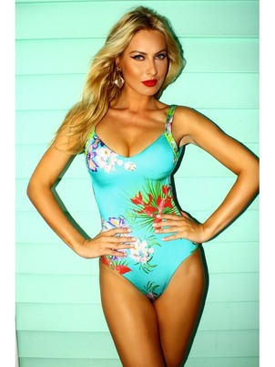 Classic Blue Flower Swimsuit