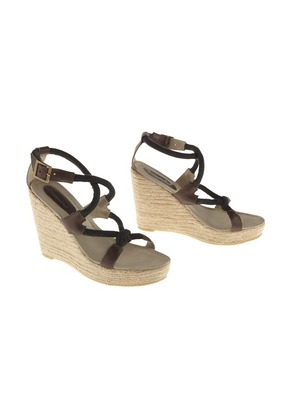 Brown Rivera Cruise Wedge Sandals