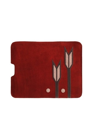 Rust and Tan Flower iPad Sleeve