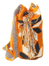 Black and White on Orange Wayuu Mochila
