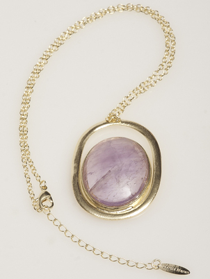 Lilac Agate Necklace