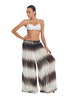 Tie-Dye Stripes Wide Leg Cover-up