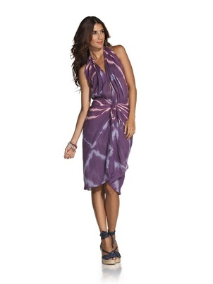 Purple Tie Dye Pareo Cover Up