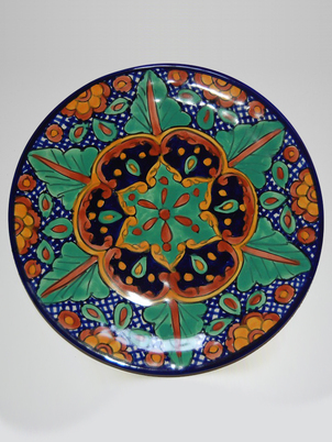 Green Floral Plate