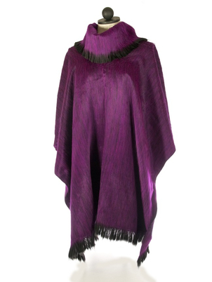 Pull-Over Alpaca Shawls Grape
