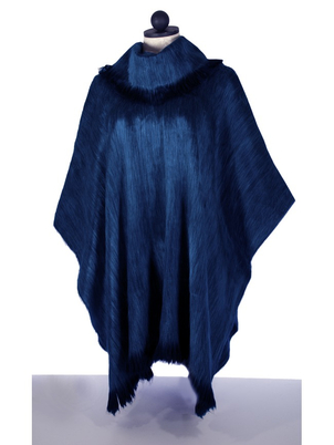 Pull-Over Alpaca Shawls Royal Blue