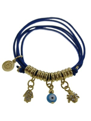 Three Charm Blue Bracelet
