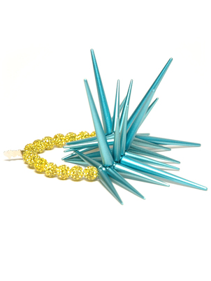 Yellow and Turquoise Urchin Bracelet