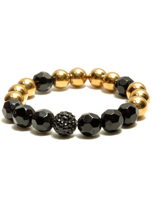 Golden Black Mix Bead Bracelet