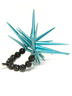 Black and Turquoise U