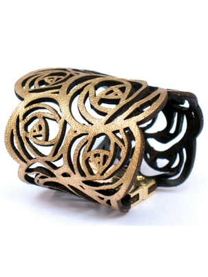 Cuff - Gold  Rosette